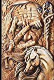 Medieval Notebook: Bronze Old Man and Norse God Legendary Notebook: Great Medieval Old Man Norse God Notebook for School or as a Diary, Lined With ... Notes and for Drawings. (Medieval Notebooks)