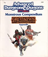 Monstrous Compendium: Greyhawk Adventures (Advanced Dungeons and Dragons, Appendix) 0880388366 Book Cover