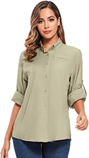Women's Quick Dry Sun UV Protection Convertible Long Sleeve to Short Sleeve Shirts for Hiking Camping Fishing Sailing - - ...