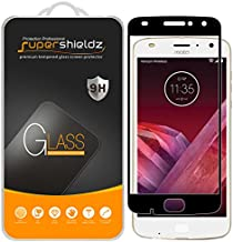 Supershieldz (2 Pack) for Motorola (Moto Z2 Play) Tempered Glass Screen Protector, (Full Screen Coverage) Anti Scratch, Bubble Free (Black)