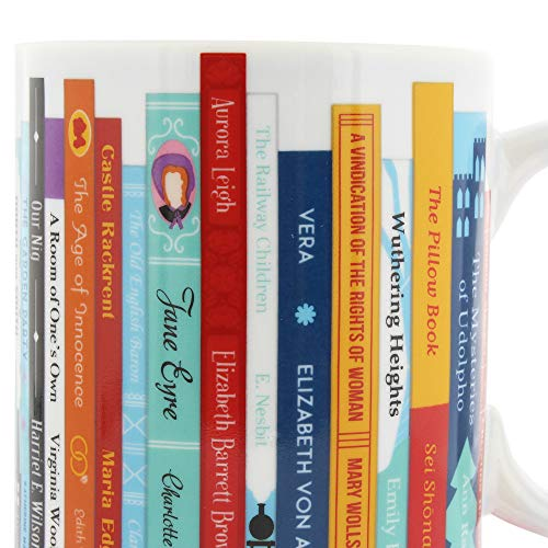 Ginger Fox Inspiring Female Writers Novelty Mug Featuring 30 Bestselling Classic Novels by Female Authors