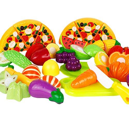 Amurleopard Enfants Jeu de Cuisine et de Nourriture Toys Ensemble de Fruits Lot de 2