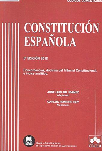 Constitución Española: Concordancias, doctrina del Tribunal Constitucional e índice analítico (Código Comentado)