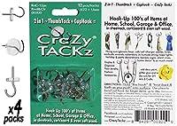 クレイジーtackz 48tacks (ラウンド&クリア) ( 4pk = 48tacks )