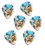 Lady Gaga Telephone Set Of 6 Loose Guitare Médiators (F1)