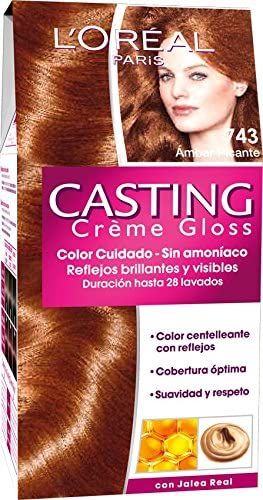 LOréal Paris Coloración Sin Amoniaco Casting Créme Gloss 743 Spicy Amber