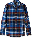Volcom Caden Camisa de Manga Larga, Hombre, Azul (True Blue), S