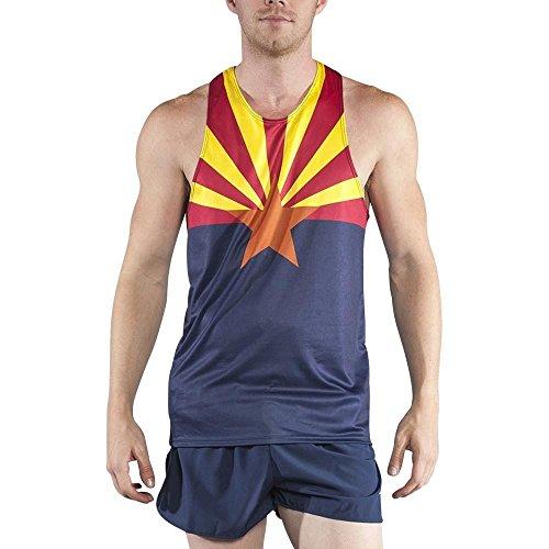 BOA Men's Print Running Singlet (2600P) (Arizona, Medium)