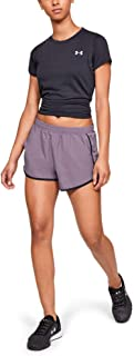 Under Armour Women's Fly By Running Shorts, Black (521)/Reflective, Small