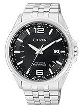 Citizen Herren-Armbanduhr XL Funkuhren Analog Quarz Edelstahl CB0010-88E