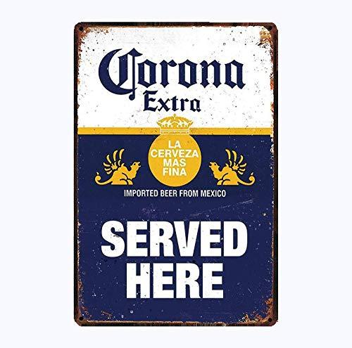 shovv Letrero de Chapa metálica Cerveza Corona Extra Carteles de Metal Encuentra la decoración de Carteles de Pared de Playa para Bar Pub Pintura de Hierro