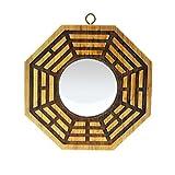 Feng Shui pa kua de madera de Peach Convexo Espejos pakua 4 pulgadas w Mxsabrina pulsera de hilo rojo SKU: G9008