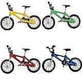Vientiane Bicicleta de Dedo de 4 Piezas,Mini Bicicleta de Aleación de Dedo Modelo de Bicicleta de Montaña Adornos Modelo de Bicicleta Bicicleta Gadgets