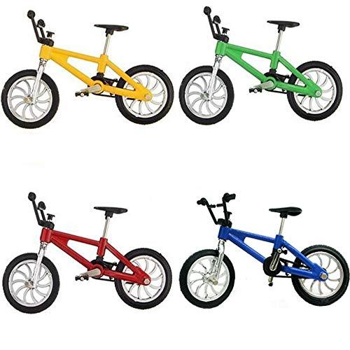 Vientiane 4 Stück Finger Fahrrad, Mini Fahrrad Spielzeug Legierung Finger Mountainbike Modell Ornamente Fahrrad Kugel Modell Bike Gadgets