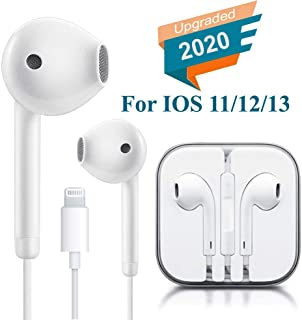 Lighting Connector Earbuds Earphone Wired Headphones Headset with Mic and Volume Control,Quick Linking,Compatible with iPhone 11 Pro Max/Xs Max/XR/X/7/8 Plus Plug and Play Filter Cases
