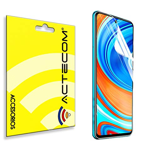 ACTECOM Protector de Pantalla TPU Hidrogel compatible con Xiaomi Redmi Note 9T 5G Flexible Membrana Lámina Protectora Cubierta Protectora