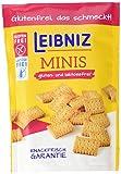 Leibniz Minis Gluten- und Laktosefrei,  8er Pack — Mini-Kekse in der Großpackung — Keks ohne Gluten und Laktose — glutenfreie Minikekse in der Vorrats-Box (8 x 100 g)