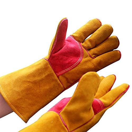 BBQ handschoenen leer multifunctionele solderen handschoenen voor MIG WIG ARC MMA handschoenen voor oven grill open haard oven hittebestendige veiligheid werkhandschoenen pannenlappen pruik laser Mig BBQ ga