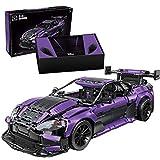 SENG Técnica - Modelo de coche deportivo, 3850 piezas, 1/8, construcción de bloques de construcción para niños y adultos, compatible con Lego – versión estática lila
