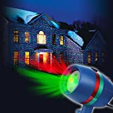 Star Shower Motion Laser Light by BulbHead - Indoor Outdoor Laser...