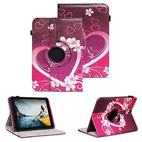 NAUC Tablet Schutzhülle kompatibel für Medion Lifetab P8912 Hülle Tasche Standfunktion 360° Drehbar Cover Universal Hülle, Farben:Motiv 2