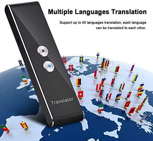 Diyeeni intelligente spraaktransformator, draagbaar Bluewooth transfer met 40 talen, voice translator ondersteunt camera/tweeweg overbrenging, pocket interpreter voor reizen, leren, buitenland
