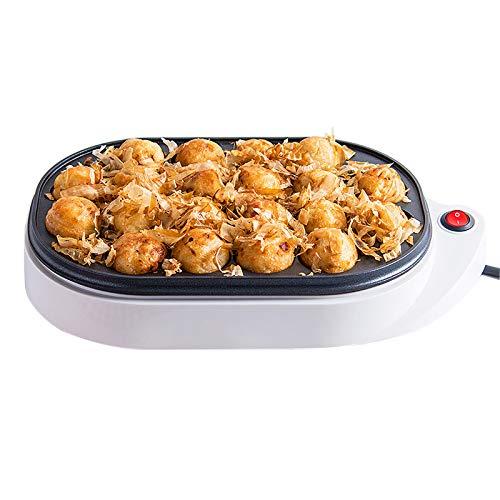 WMLS Elektrischer Takoyaki Maker, 20 Löcher Maruko-Backmaschine Omelett-Herd, Antihaftbeschichtung Einfach zu Verwenden 220v