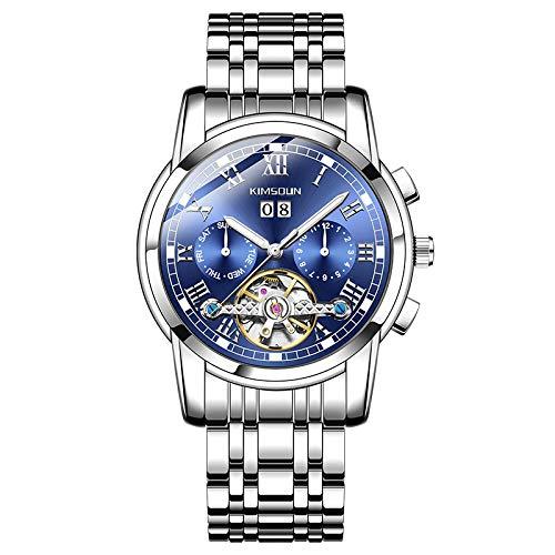 GUOJIAYI Armbanduhr Herren Tourbillon Mechanische Uhr Multifunktions Leuchtend Wasserdicht Uhr