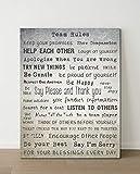 Leinwand'Teamregeln - Team-Rules', Bild für Büro-Dekoration, Hand-Lettering, Sprüche,...