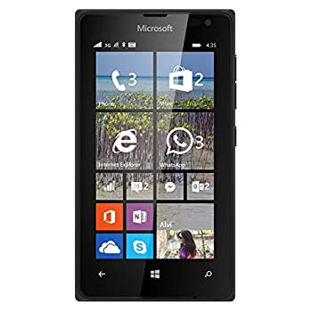 Microsoft Nokia Lumia 435 8GB Unlocked GSM Windows 8.1 Touchscreen Smartphone Black  International version No Warranty