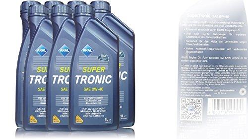 7x 1 L Liter ARAL SuperTronic 0W-40 Motoröl