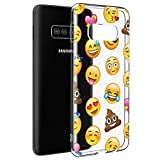 Eouine Samsung Galaxy S10 Case, Phone Case Transparent Clear with Pattern Ultra Slim Shockproof Soft Gel TPU Silicone Back Cover Bumper Skin for Samsung Galaxy S10 Smartphone (Emoji)