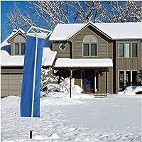 雪落とし, 長さ5段階調整可能 6m, スノーダンプ 雪下ろし道具 雪かき 簡単ツール らくらく雪すべ〜るロング雪落とし 軽量なアルミ製 冬 積雪 屋根除雪道具 雪おろし棒 除雪 屋根 車などに適用 アルミパイプ式 便利商品 安全 事故防止 雪下ろし用具 ホイール付き