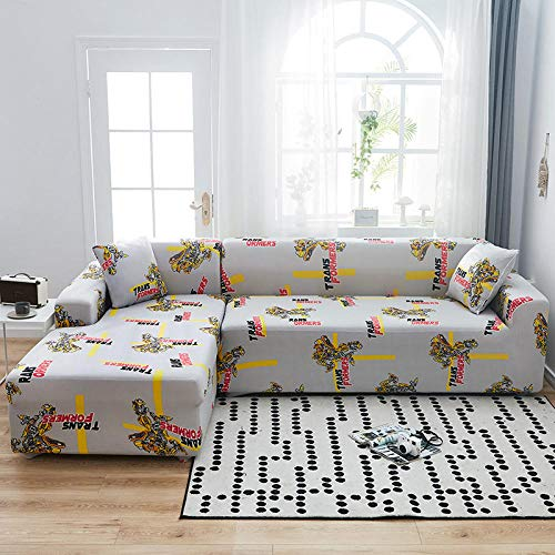 Fsogasilttlv Sofa Cover 2 Seater,Elastic All-Inclusive Sofa Cover, Four Seasons Universal L Sofa Cushion Protective Furniture Cover 145-185cm(1pcs)