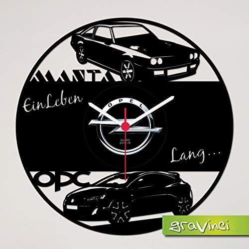Gravinci.de Schallplatten-Wanduhr Opel Manta OPC