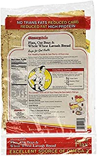 Value 3 Pack: Joseph's Lavash Bread Reduced Carb - 4 Square Breads