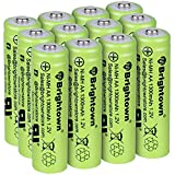 NiMH Rechargeable AA Battery High Capacity 1.2V Pre Charged Double A Battery for...