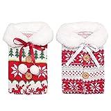 Djvn Papier Cadeau Noel 2pcs / Set Tricot De Noël Champagne Vin Rouge Housse De Bouteille Sacs Elk Snowflake Manteau De Noël 13x23cm Couleur Comme Images Montrées