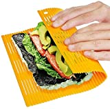 """FANLIU Antiadherente Hacer Sushi Mat Sushi de DIY Rodillo Fabricante japonés de plástico Sushi Haciendo Kit 11.8"""" L X9.8 W Color al Azar"""
