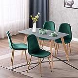 Yata Home - Mesa de comedor rectangular de estilo escandinavo, minimalista, escritorio de ordenador, escritorio de gamer, para casa y oficina, patas cuadradas de madera, 110 x 70 x 75 cm, color gris