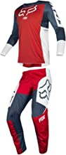 Fox Racing 2019 180 PRZM Jersey and Pants Combo Offroad Gear Set Adult Mens Navy/Red Large Jersey/Pants 34W