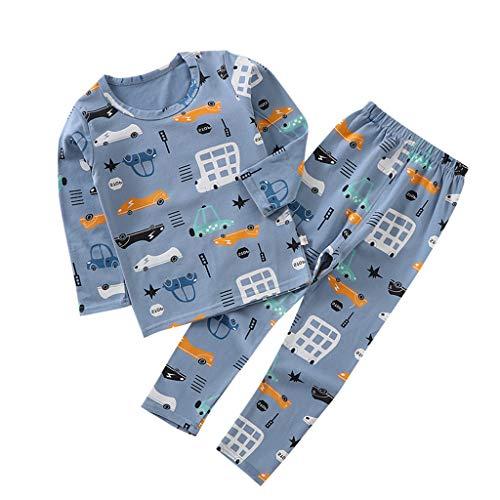 Kind Baby Langarm Cartoon Tops + Hosen Pyjamas Nachtwäsche Outfits
