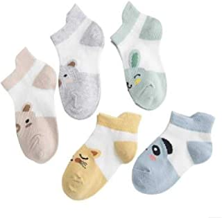 Calcetines Verano Niños Niño Sección Delgada Malla Infantil Algodón Puro No-Show Calcetines Verano Niños Calcetines Cortos Ultrafinos Y Transpirables para Bebés