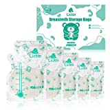 Lictin Breast Milk Storage 120Pcs - 240ML Breast Milk Storage Bag Pre-sterilized, Thicken Double Zipper Breast Milk Bag, Integrated Pouring Spout