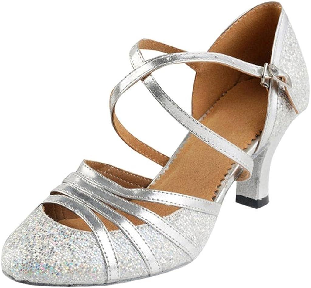 Hbeylia Vintage Dress Pump Sandals Shoes For Women Ladies Glitte