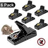 PièGe à Souris, Tapette à Rat Réutilisable Souricière Ultrasensible Appat Souris avec Ressort puissant et Sensible Contrôle Des Rats Efficace (Lot de 6)
