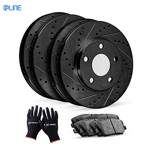 Complete Kit Black Drill/Slot Brake Rotors...