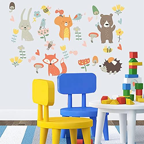 Vinilos Infantiles Animales ( W x H ) 55 x 55 cm, Decoración de la Habitación del Bebé Pegatinas de pared Bosque, Vinilos Decorativos de pared Infantiles Bebés