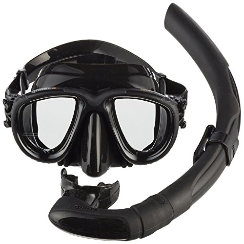 Mares Erwachsene Maske plus Schnorchel Set Tana Tauchmaske, Black, One size