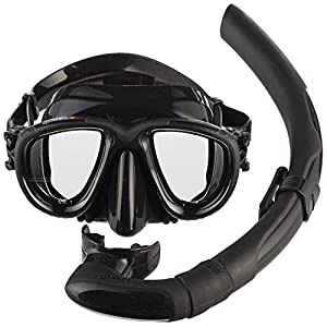 Mares Mask Plus Snorkel Tana Diving Kit - Black/Black